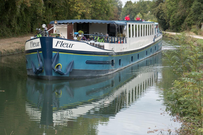 Barge Fleur Parijs Montargis Schip Kanaal
